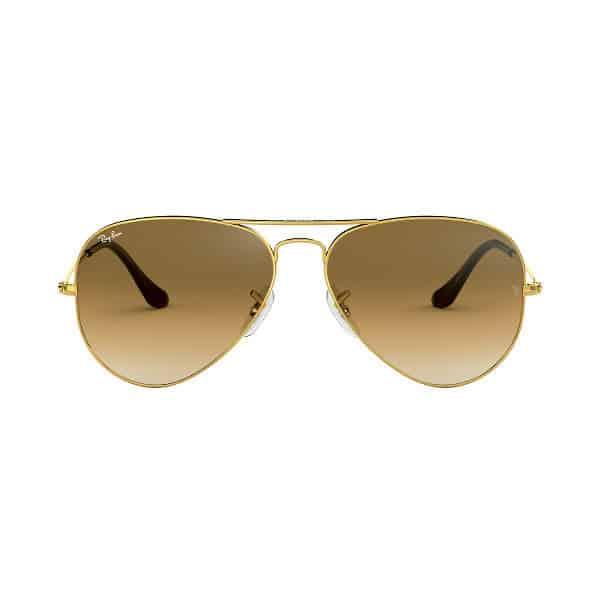 RayBan RB3025 00151 Aviator Gradient Brown Gold
